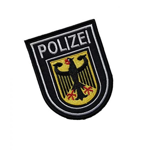 Embroidery Patch Airsoft Morale Patch 2 Germany Polizei Military Hook Loop Tactics Morale Embroidered Patch