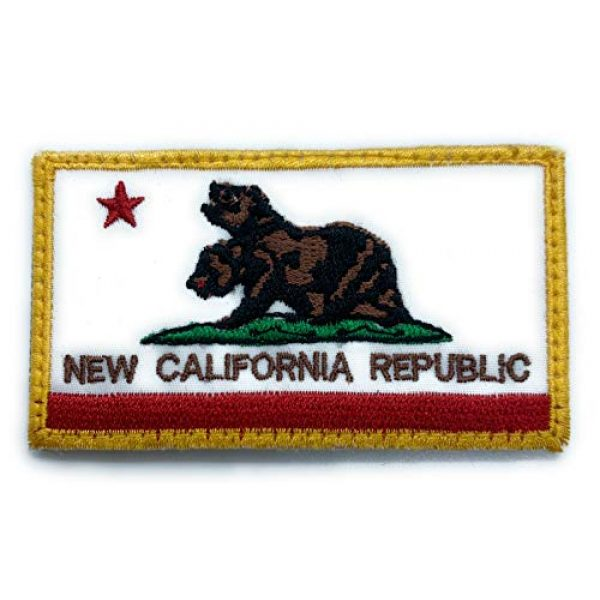 Almost SGT Airsoft Morale Patch 1 New California Republic Patch Fallout - Funny Tactical Military Morale Embroidered Patch Hook Backing