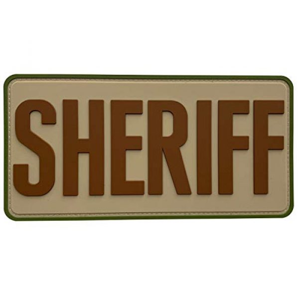 """uuKen Airsoft Morale Patch 1 uuKen Large Funny Sheriffs Office PVC Patch 8x4 inches Multi Camo for Molle Morale Tactical Vest Shoulder Chest Bags Backpacks (Camo, L 8""""x4"""")"""