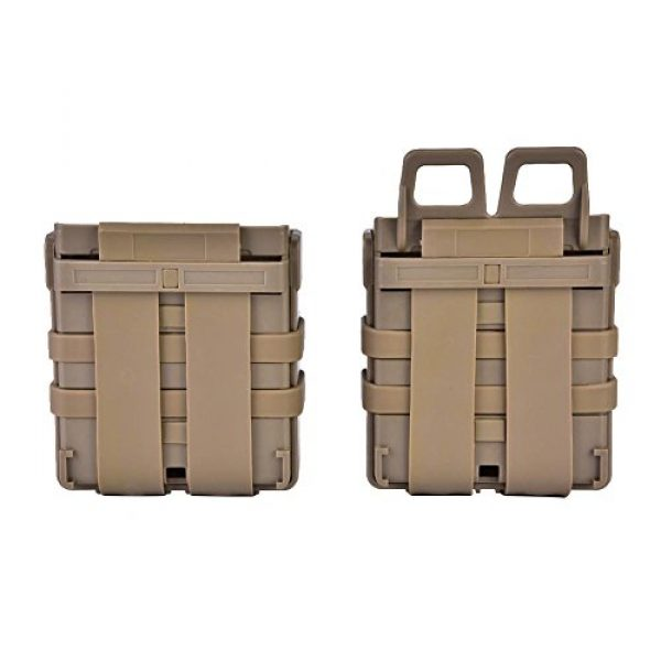 VGEBY Tactical Pouch 5 2Pcs Tactical Magazine Pouch Bag, Plastic Clip Mags Holder Set Quick Pull Box for Molle System Vest