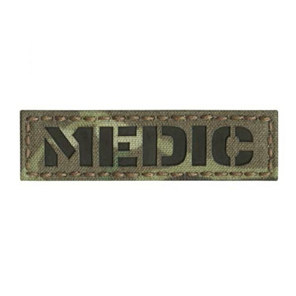 Tactical Freaky Airsoft Morale Patch 1 IR Multicam Medic MED 1x3.5 EMS Paramedic Tactical Morale Hook-and-Loop Patch