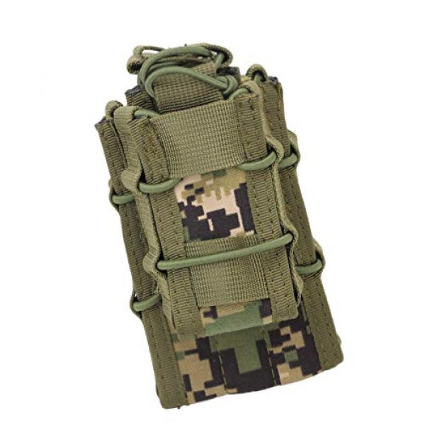 BESPORTBLE Tactical Pouch 6 BESPORTBLE 1PCS Attachment Sub-Package MOLLE System Vest Accessory Kit Storage Multiple Pocket Molle Bag Outdoor Camping Backpack Hiking Strap Backpack (Green Style)