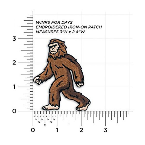 Winks For Days Airsoft Morale Patch 3 Winks For Days Bigfoot Sasquatch Embroidered Iron-On Patch