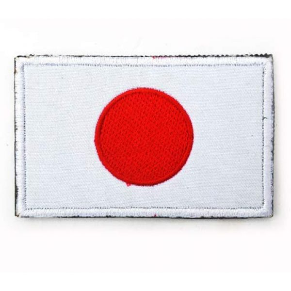 Tactical Embroidery Patch Airsoft Morale Patch 2 2pcs Japan Flag Embroidery Patch Military Tactical Morale Patch Badges Emblem Applique Hook Patches for Clothes Backpack Accessories