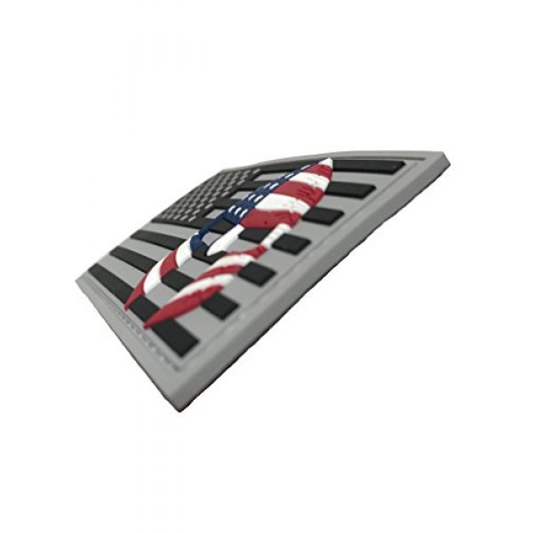 Armorbilt Airsoft Morale Patch 2 USA Flag with Spartan Helmet (Molon Labe) 3D PVC Rubber Morale Patch, Represent American Pride, Perfect for Tactical Operator Caps, Hats, Jackets, Bags, Packs and Military Apparel