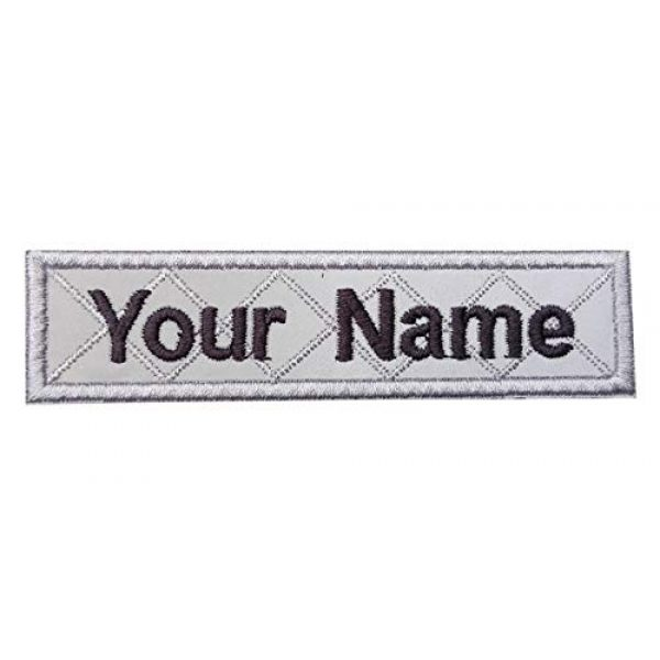 DREAM ARMY Airsoft Morale Patch 1 Reflective Gray Custom Name Text Biker Motorcycle Morale Patch Hook Backing 4x1 inch