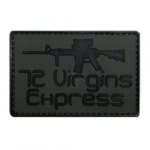 LIVABIT Airsoft Morale Patch 1 LIVABIT PVC Rubber 3D Morale Patch MP-26 Tactical Airsoft Paintball 72 Virgins Express Military OD Green