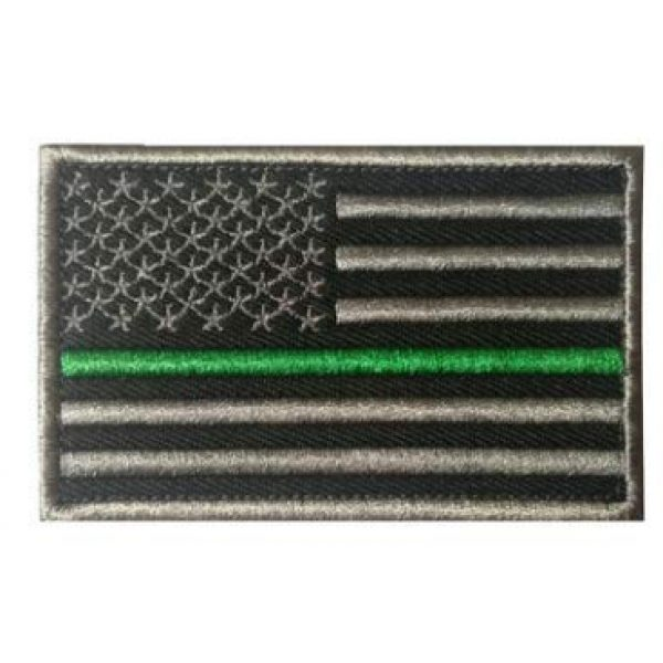 Tactical Embroidery Patch Airsoft Morale Patch 1 US Flag Embroidery Patch Military Tactical Morale Patch Badges Emblem Applique Hook Patches for Clothes Backpack Accessories