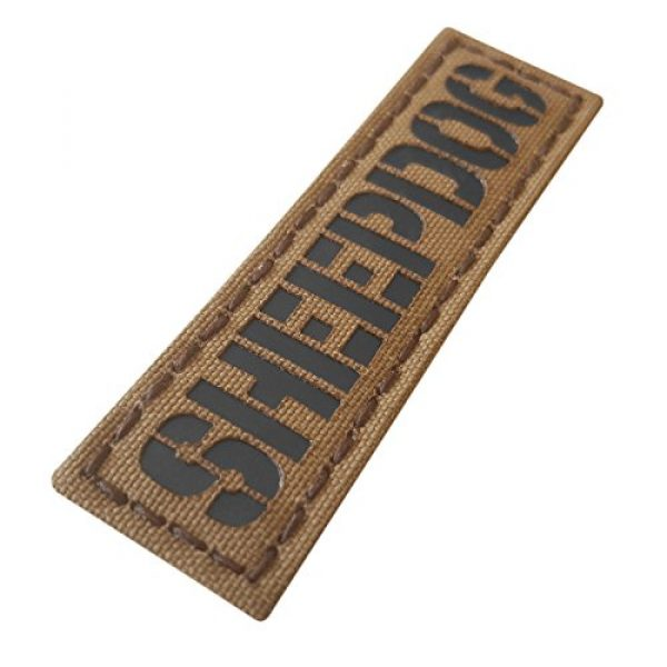 Tactical Freaky Airsoft Morale Patch 2 Sheepdog 1x3.5 Coyote Brown Tan Arid Infrared Name Tape Tab IFF Morale Hook&Loop Patch