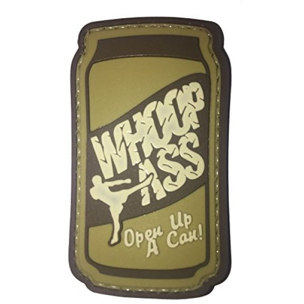DDT VETERAN OWNED AND OPERATED Airsoft Morale Patch 1 DDT Can of Whoop A PVC Morale Patch