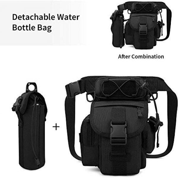 ACOMOO Tactical Pouch 6 ACOMOO Tactical Drop Leg Waist Bag Mens Outdoor Sport Thigh Hip Pack Utility Pouch Black