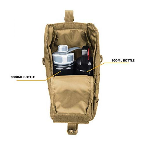 AMYIPO Tactical Pouch 4 AMYIPO Water Bottle Pouch Molle Tactical Holder Storage Bag