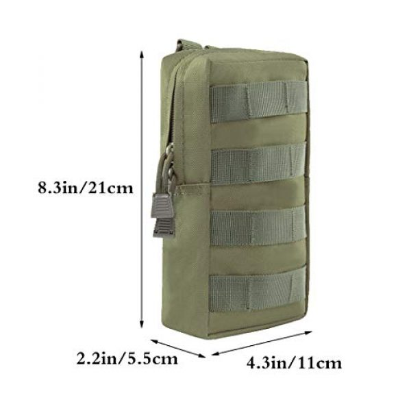 Aoutacc Tactical Pouch 4 2 Pack Tactical Modular Molle Pouches, Compact Small Utility Pouch EDC Waist Bag Pouch