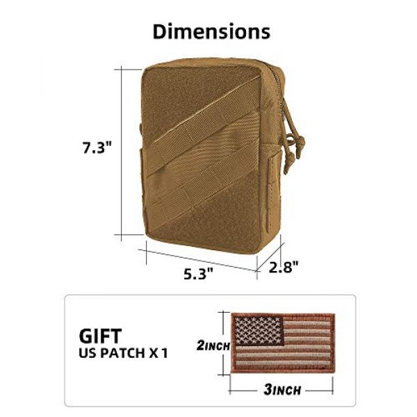 AMYIPO Tactical Pouch 2 AMYIPO Tactical Molle Admin Pouch Equipment Multi-Purpose EDC Utility Tools Bag Utility Pouches