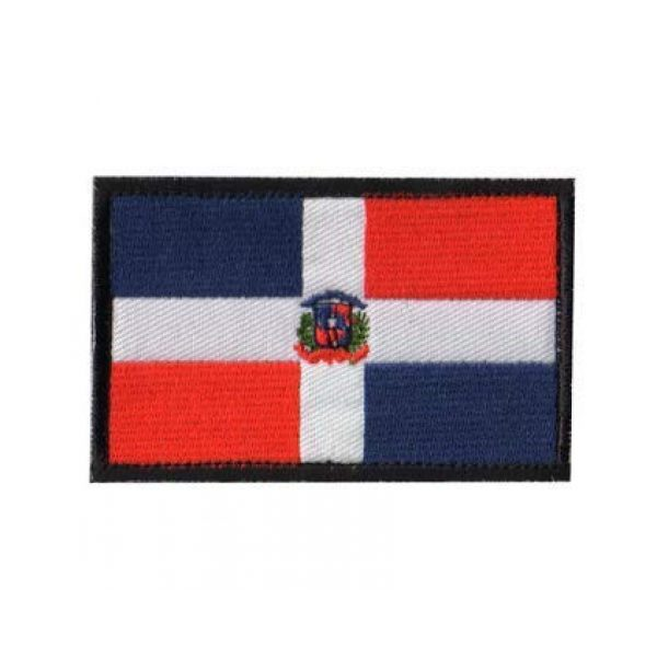 Tactical Embroidery Patch Airsoft Morale Patch 1 Dominica Flag Embroidery Patch Military Tactical Morale Patch Badges Emblem Applique Hook Patches for Clothes Backpack Accessories