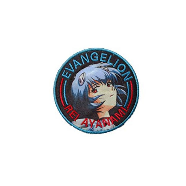 Embroidery Patch Airsoft Morale Patch 2 Japan Anime Evangelion Patch Military Hook Tactics Morale Embroidered Patch Ayanami Rei