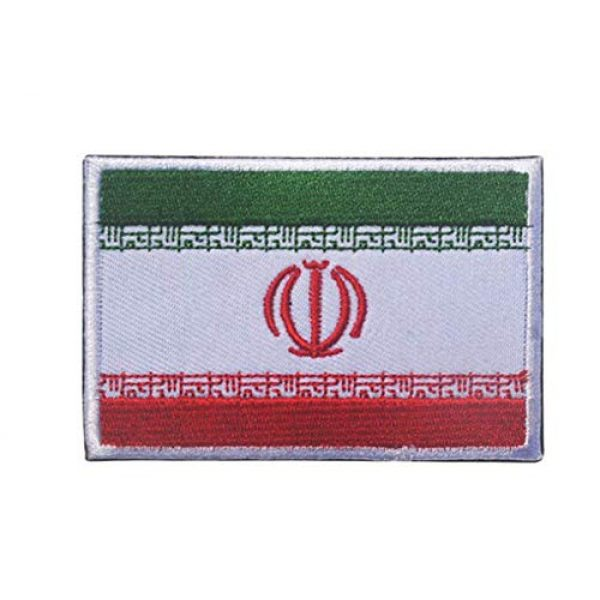 Tactical Embroidery Patch Airsoft Morale Patch 2 2pcs Iran Flag Embroidery Patch Military Tactical Morale Patch Badges Emblem Applique Hook Patches for Clothes Backpack Accessories