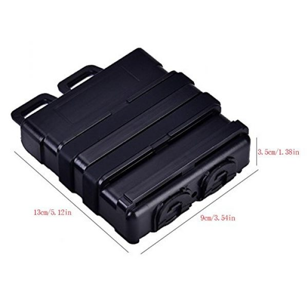VGEBY Tactical Pouch 3 2Pcs Tactical Magazine Pouch Bag, Plastic Clip Mags Holder Set Quick Pull Box for Molle System Vest
