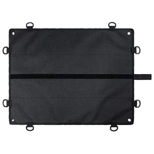 IronSeals Airsoft Morale Patch 7 IronSeals Morale Patch Panel, Tactical Board Patch Organizer Holder - Loop Surface, Steel Ring, D-Hook and Flag Patch
