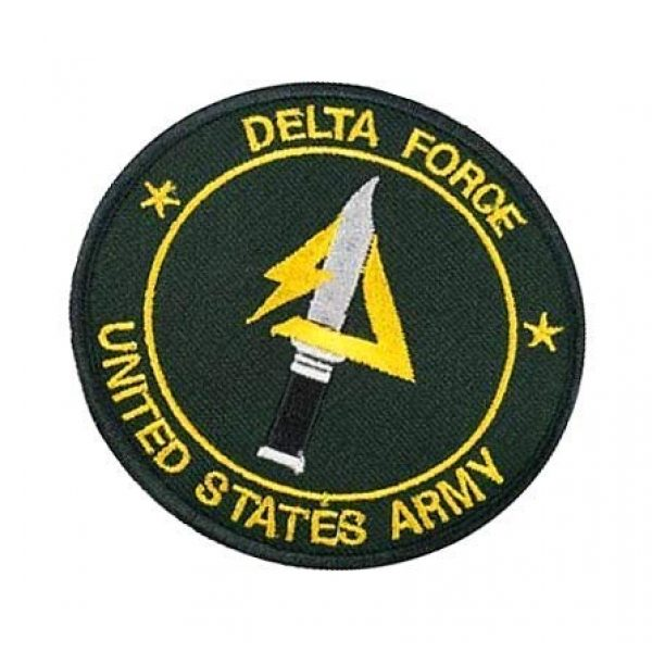 Embroidery Patch Airsoft Morale Patch 3 US Delta Forces Military Hook Loop Tactics Morale Embroidered Patch