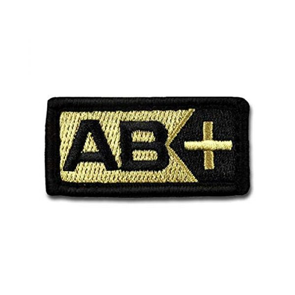 BASTION Airsoft Morale Patch 1 BASTION Morale Patches (Blood Type AB Pos, Tan)   3D Embroidered Patches with Hook & Loop Fastener Backing   Well-Made Clean Stitching   Military Patches for Tactical Bag, Hats & Vest