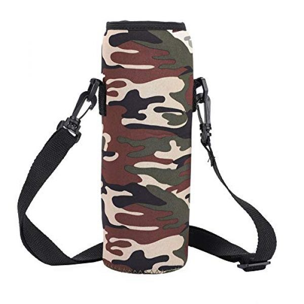 Qioni Tactical Pouch 3 Qioni Scald-Proof Case with Strap Water Bottle Bag, Water Bottle Sling Bag Water Bottle Case, Thermal Holder Bag for Outdoor Use Sports Camping Hiking