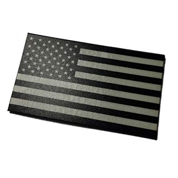 Empire Tactical USA Airsoft Morale Patch 1 (Forward) Mi-spec Ultra Glow in The Dark American US Flag Uniform Morale Patch