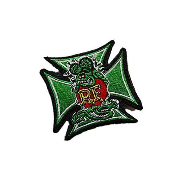 Embroidery Patch Airsoft Morale Patch 2 Rat Fink Military Hook Loop Tactics Morale Embroidered Patch