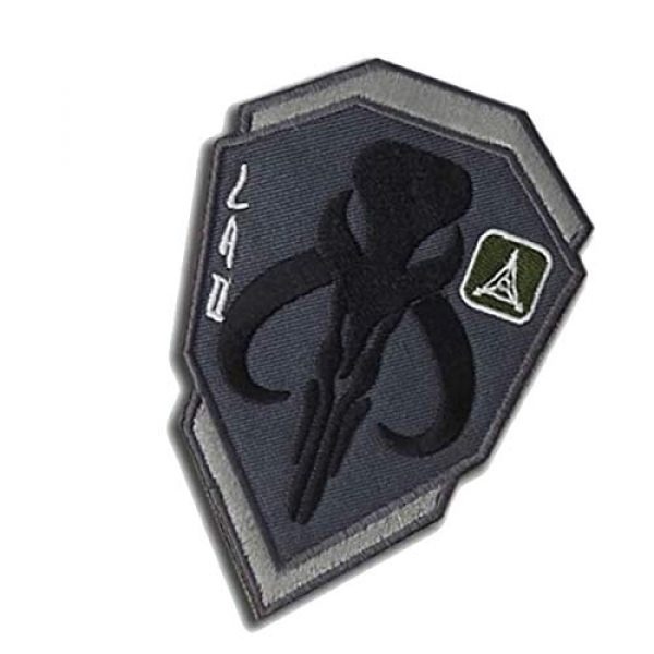 Great Supplier Airsoft Morale Patch 6 Mandalorian Mythosaur Skull Crest Shield Embroidered Patch Emblem Tactical Military Morale Funny Badages Appliques Patches with Fastener Hook and Loop Backing, 3.94 x 2.76 Inch