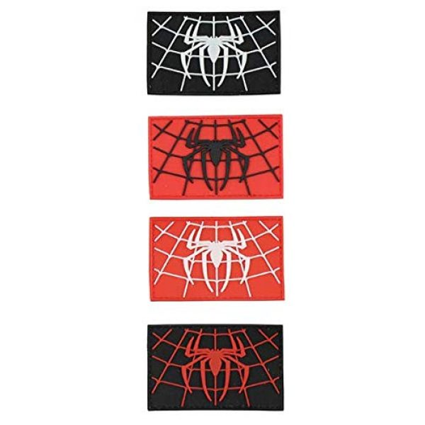 Tactical PVC Patch Airsoft Morale Patch 1 Spiderman Superhero PVC Military Tactical Morale Patch Badges Emblem Applique Hook Patches for Clothes Backpack Accessories