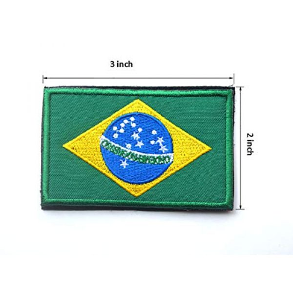 June Sports Airsoft Morale Patch 3 2 Pcs World National Flag Velcro Patches Tactical Morale Patch Set ABG5