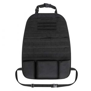 Honestptner Tactical Pouch 1 Honestptner Tactical Car Seat Back Organizer, Front Seat Storage Pouch Universal Fit Car Seat Cover Protector with 3 Storage Pouch
