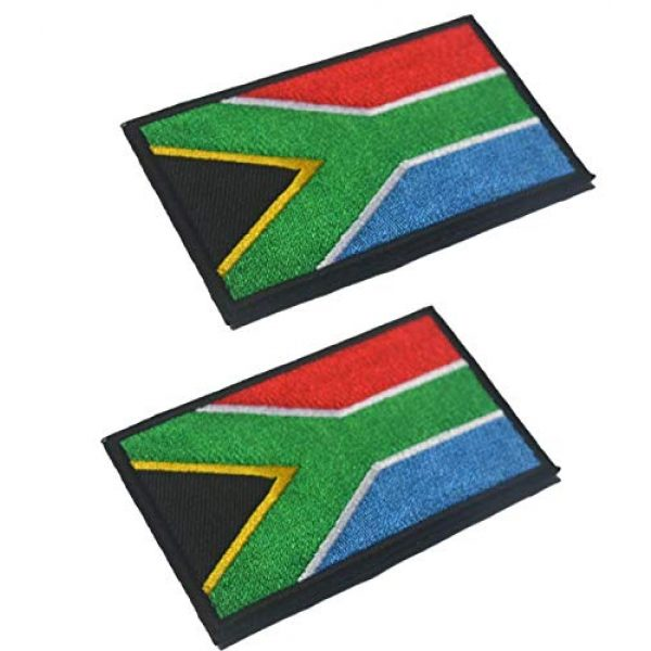 Tactical Embroidery Patch Airsoft Morale Patch 1 2pcs South Africa Flag Embroidery Patch Military Tactical Morale Patch Badges Emblem Applique Hook Patches for Clothes Backpack Accessories