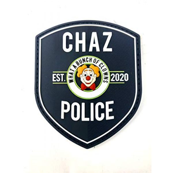 """TUFF Airsoft Morale Patch 1 Funny Chaz PD Morale Patch 3.5"""" T x 3"""" Wide City of Chaz. Velcro Backed Patch. Glow in The Dark"""