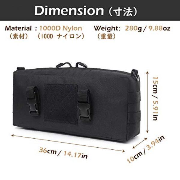 TRIWONDER Tactical Pouch 2 TRIWONDER Tactical Sling Bag Pack Molle Military Shoulder Bag Backpack Messenger Bag Utility Shoulder Satchel