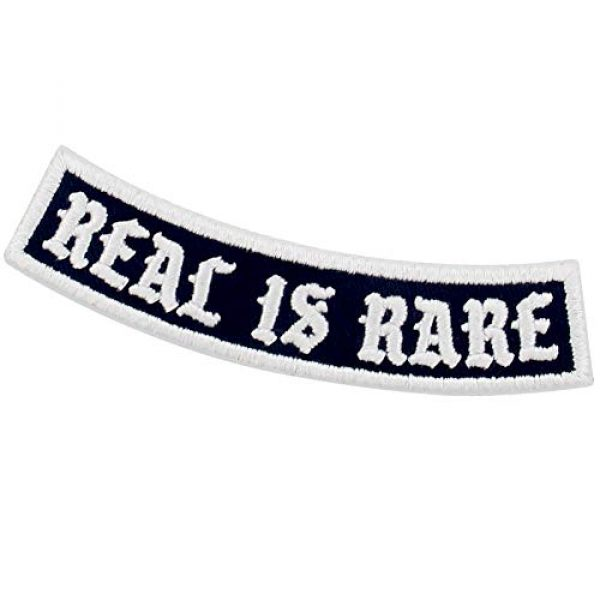 EmbTao Airsoft Morale Patch 4 Real is Rare Patch Embroidered Biker Applique Iron On Sew On Emblem