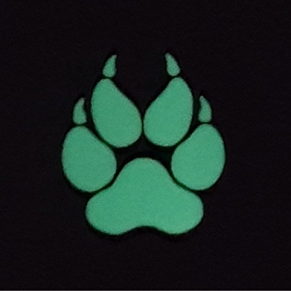Tactical Freaky Airsoft Morale Patch 2 K9 Handler Dog Paw 2x2 GITD Tactical Morale Fastener Patch