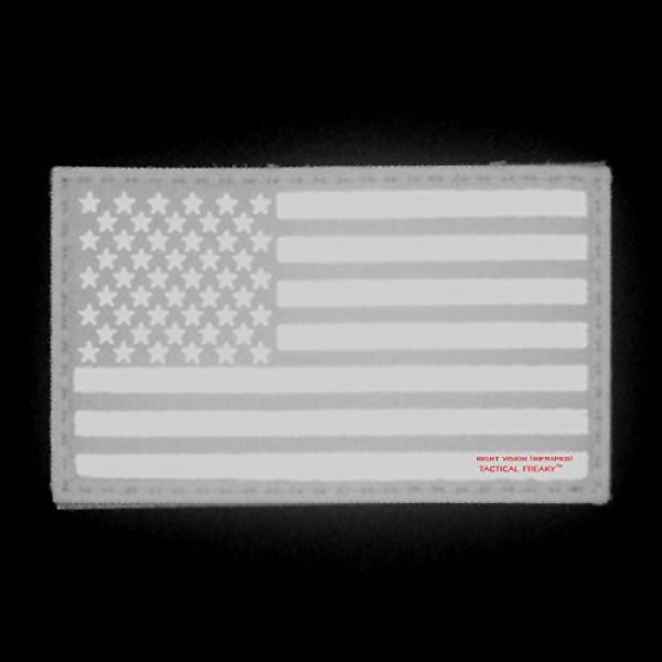 Tactical Freaky Airsoft Morale Patch 2 Big 3x5 Ranger Green Infrared IR USA American Flag IFF Tactical Morale Hook&Loop Patch