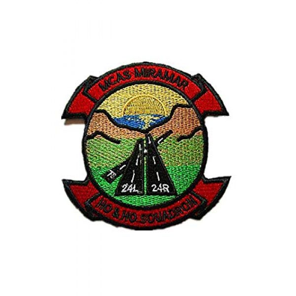 Embroidery Patch Airsoft Morale Patch 1 Marine Corps Air Station Miramar MCAS Miramar Military Hook Loop Tactics Morale Embroidered Patch
