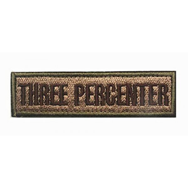 Tactical Embroidery Patch Airsoft Morale Patch 1 Three Percenter Embroidery Patch Military Tactical Morale Patch Badges Emblem Applique Hook Patches for Clothes Backpack Accessories