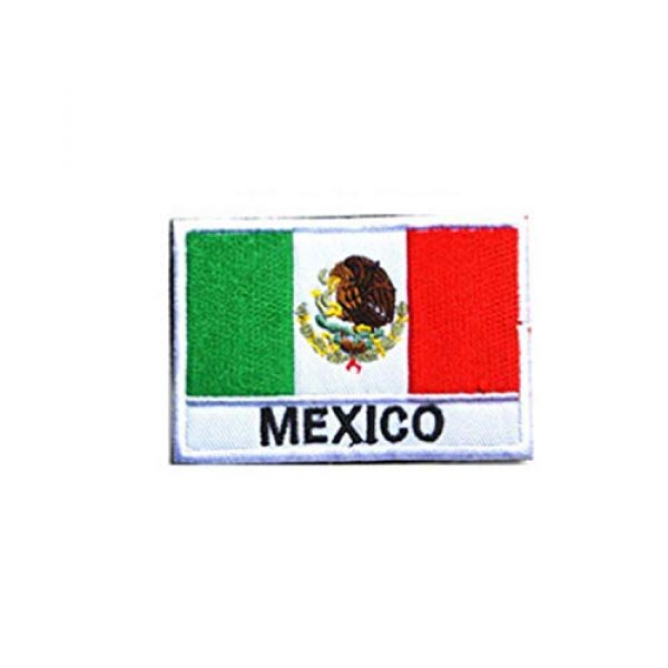 DPAINTouscap Airsoft Morale Patch 2 Mexican Flag Tactical Patches Embroidered Military Patch Morale Patches
