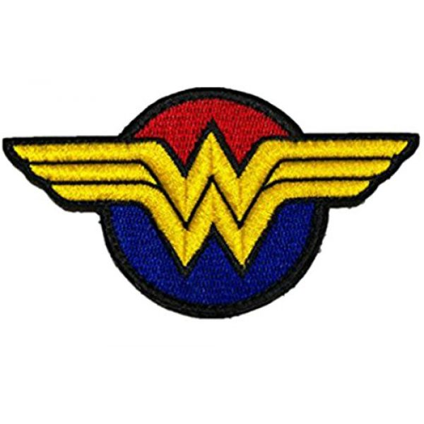 Embroidery Patch Airsoft Morale Patch 1 Wonder Woman Super Hero Tactical Military Embroidery Patch