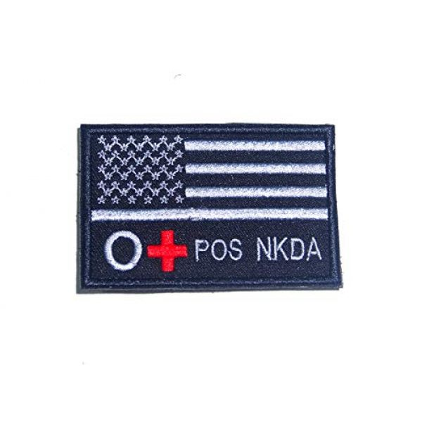 Tactical Morale Patch Airsoft Morale Patch 1 Blood Type A+ B+ AB+ O+ POS NKDA Morale Patch Hook Backing (O+)