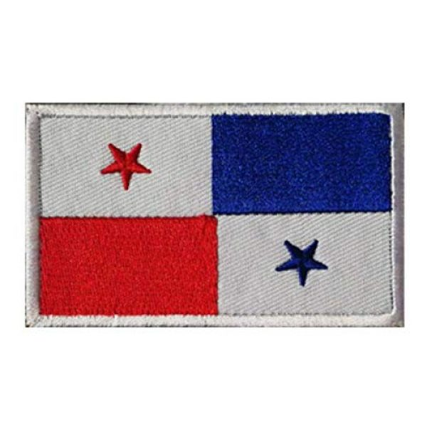 Tactical Embroidery Patch Airsoft Morale Patch 1 Panama Flag Embroidery Patch Military Tactical Morale Patch Badges Emblem Applique Hook Patches for Clothes Backpack Accessories