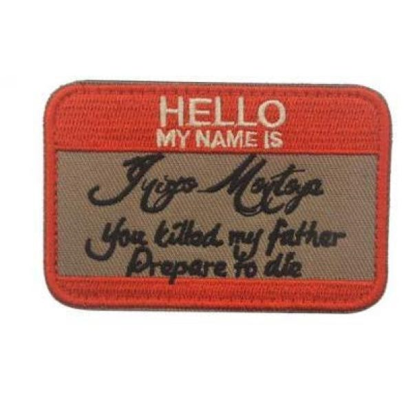 Embroidered Patch Airsoft Morale Patch 3 2pc Hello My Name is Inigo Montoya 3D Tactical Patch Military Embroidered Morale Tags Badge Embroidered Patch DIY Applique Shoulder Patch Embroidery Gift Patch