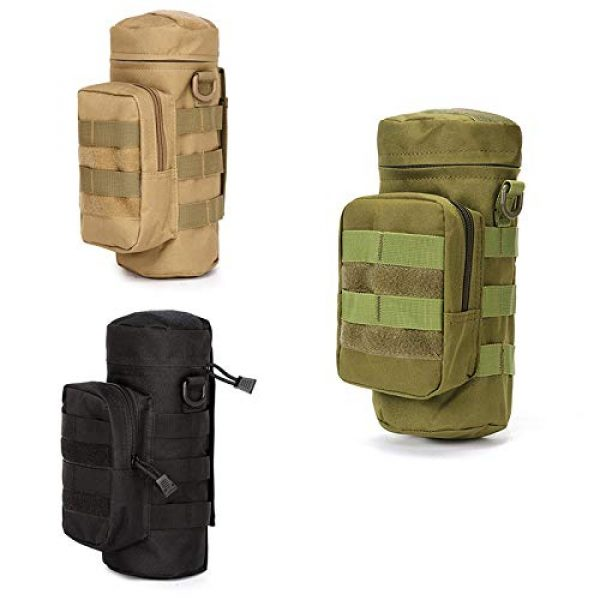 ONEVER Tactical Pouch 5 ONEVER Molle Water Bottles Pouch, Tactical Gear Kettle Waist Shoulder Bag for Military Climbing Camping Hiking Bags