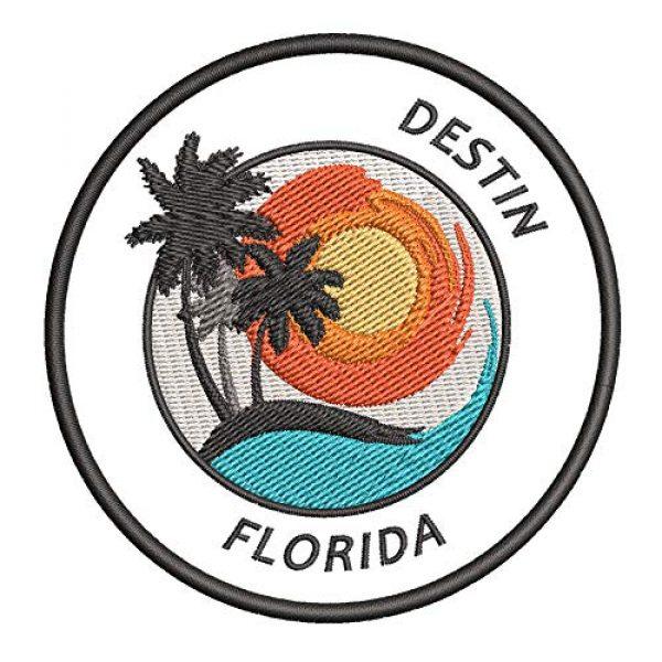 Appalachian Spirit Airsoft Morale Patch 1 Destin, Florida Sunset Scene Embroidered Premium Patch DIY Iron-on or Sew-on Decorative Badge Emblem Vacation Souvenir Travel Gear Clothes Appliques