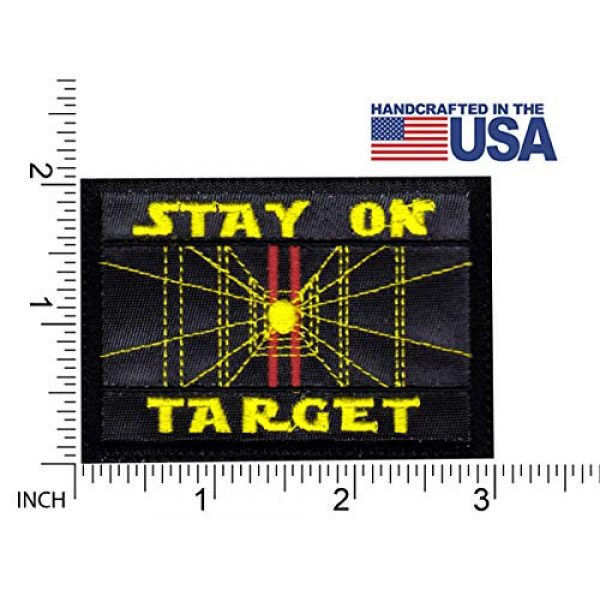 Tactical Patch Works Airsoft Morale Patch 2 Stay On Target Star Wars Inspired ArtPatch