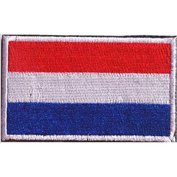 Tactical Embroidery Patch Airsoft Morale Patch 2 2pcs Netherlands Flag Embroidery Patch Military Tactical Morale Patch Badges Emblem Applique Hook Patches for Clothes Backpack Accessories