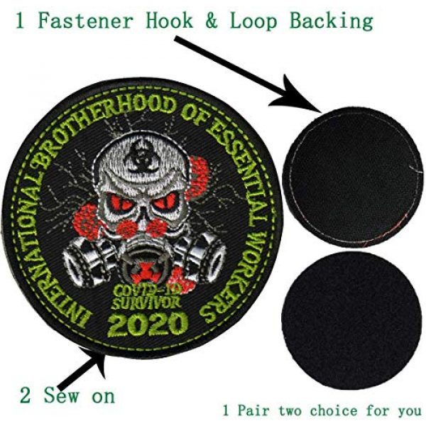 APBVIHL Airsoft Morale Patch 7 4 PCS Operation Enduring Cluster Fuck Outbreak Team Response Embroidered Patch, Brotherhood Essential Workers Embroidery Patches, Tactical Military Morale Applique Badge Fastener Hook and Loop Backing